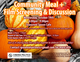 community meal and discussion poster