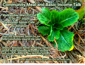 community meal and basic income talk