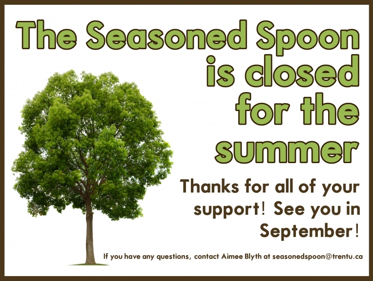 The spoon is closed for the summer