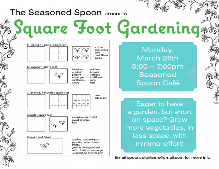 Square Foot Gardening Poster